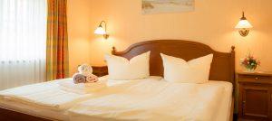 Appartements auf der Insel Rügen im Ostseebad Baabe – Schlafzimmer in der Villa Hanseatic