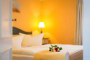 Ostseebad Baabe auf der Insel Rügen – Schlafzimmer der Ferienwohnung im Appartementhaus Hanseatic