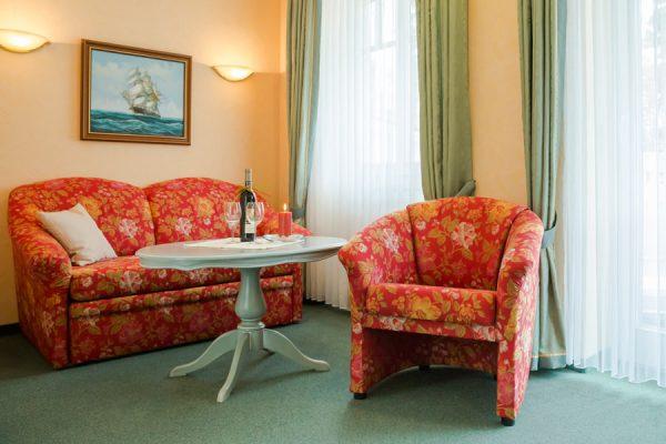 Ostseebad Baabe auf der Insel Rügen – 2-Raum-Appartement-Zimmer in der Villa Hanseatic
