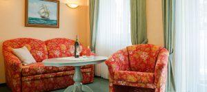 Ostseebad Baabe auf der Insel Rügen – Appartement-Zimmer der Villa Hanseatic an der Ostsee