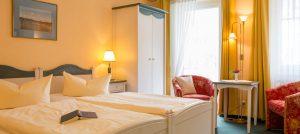 Rügen-Ferienwohnung vom Appartementhaus Hanseatic im Ostseebad Baabe – Schlafzimmer der Fewo