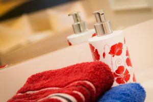 Rügenurlaub im Ostseebad Baabe – Badezimmer der Fewo im Apartmenthaus Hanseatic an der Ostsee