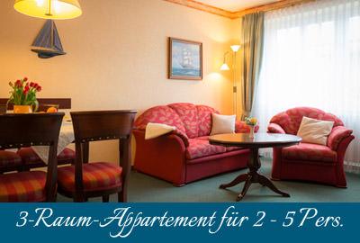 Ferienwohnung im Ostseebad Baabe auf Rügen – 3-Raum-Wohnung im Appartementhaus Hanseatic