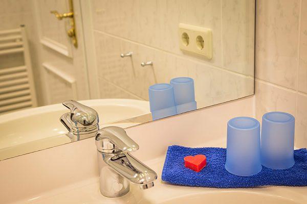 Fewo in Baabe auf der Insel Rügen – Badezimmer im Apartmenthaus Hanseatic auf Mönchgut