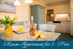Ferienwohnung im Ostseebad Baabe auf Rügen – 3-Raum-Unterkunft im Appartementhaus Hanseatic
