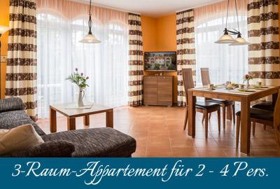 Ferienwohnung Strandflair im Ostseebad Baabe auf Rügen – 3-Raum-Appartement
