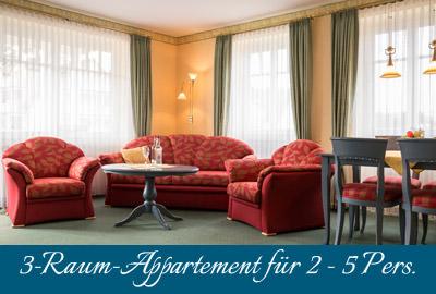 Ferienwohnung im Ostseebad Baabe auf Rügen – 3-Raum-Appartement im Ferienhaus Hanseatic