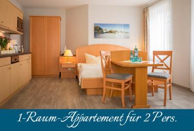 Fewo-Zimmer im Ostseebad Baabe auf Rügen – 1-Raum-Apartment im Appartementhaus Hanseatic