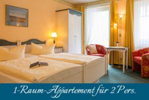 Ferienwohnung im Ostseebad Baabe auf Rügen – 1-Raum-Wohnung im Appartementhaus Hanseatic