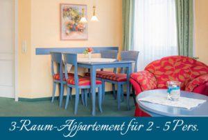 Ferienwohnung im Ostseebad Baabe auf Rügen – 3-Raum-Apartment im Appartementhaus Hanseatic